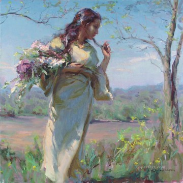 Pretty Lady DFG 25 Impressionist Oil Paintings