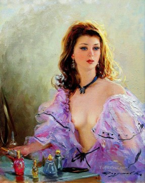 Pretty Lady KR 003 Impressionist Oil Paintings