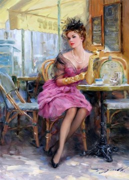 Pretty Lady KR 004 Impressionist Oil Paintings
