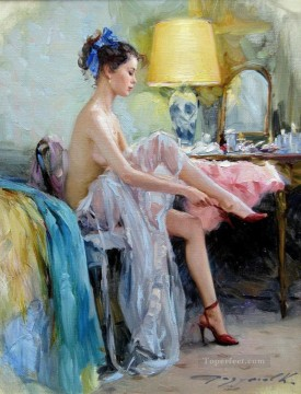 Pretty Lady KR 012 Impressionist Oil Paintings