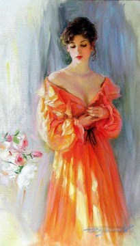 Pretty Lady KR 017 Impressionist Oil Paintings