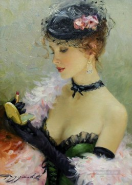 Pretty Lady KR 021 Impressionist Oil Paintings