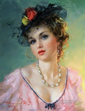 Pretty Lady KR 036 Impressionist Oil Paintings