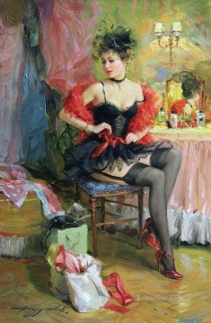 Women Painting - Pretty Lady KR 037 Impressionist