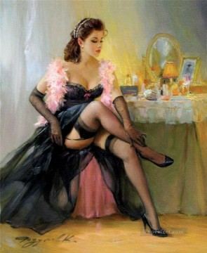 Pretty Lady KR 043 Impressionist Oil Paintings