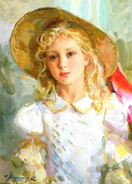 Pretty Lady KR 049 Impressionist Oil Paintings