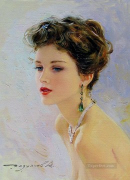 Pretty Lady KR 073 Impressionist Oil Paintings