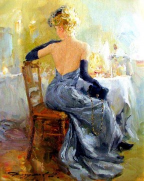 Women Painting - Pretty Lady KR 076 Impressionist