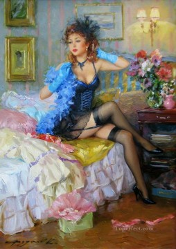 Women Painting - Pretty Lady KR 078 Impressionist