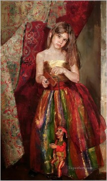 Pretty Little Girl NM Tajikistan 01 Impressionist Oil Paintings