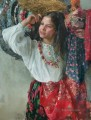 Pretty Little Girl NM Tajikistan 10 Impressionist