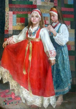 Women Painting - Pretty Little Girl NM Tajikistan 16 Impressionist
