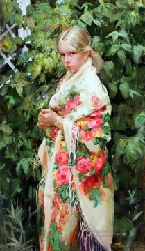 Pretty Little Girl NM Tajikistan 19 Impressionist Oil Paintings