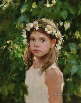 Pretty Little Girl NM Tajikistan 24 Impressionist Oil Paintings