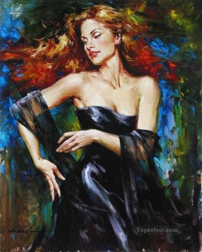 Pretty Woman AA 07 Impressionist Oil Paintings