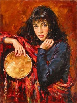 Women Painting - Pretty Woman AA 08 Impressionist
