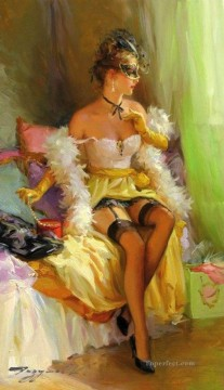 Women Painting - Pretty Woman KR 021 Impressionist