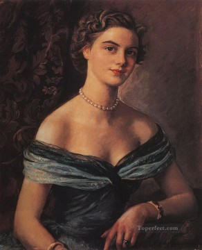 Women Painting - helene de rua princess jean de merode 1954 beautiful woman lady