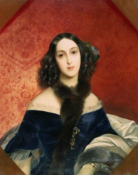 Women Painting - portrait of m a beck Karl Bryullov beautiful woman lady