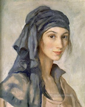 Women Painting - zinaida serebriakova self portrait beautiful woman lady