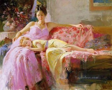 Women Painting - A Place In My Heart Pino Daeni beautiful woman lady