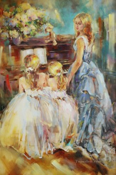 Women Painting - Beautiful Girl Dancer AR 11 Impressionist