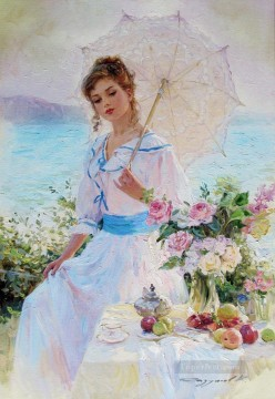 Beautiful Girl KR 027 Impressionist Oil Paintings