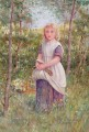 Country Girl by Henry James Johnstone British 04 Impressionist