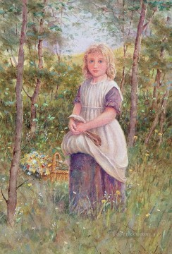 Women Painting - Country Girl by Henry James Johnstone British 04 Impressionist