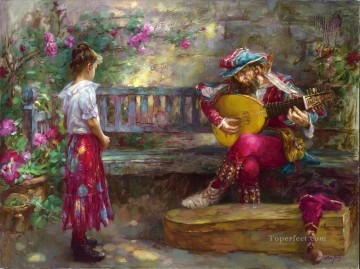 Women Painting - Girl with Musician