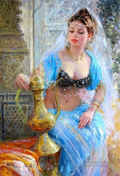 Odalisque a la carafe Impressionist Oil Paintings