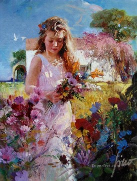 Women Painting - Pino Daeni 1 beautiful woman lady