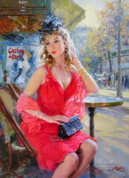 Women Painting - Pretty Lady KR 018 Impressionist