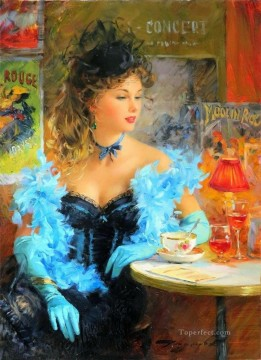 Pretty Lady KR 058 Impressionist Oil Paintings
