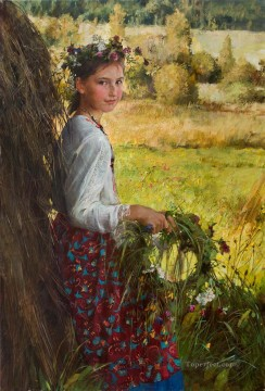 Pretty Little Girl NM Tajikistan 08 Impressionist Oil Paintings