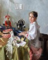 Pretty Little Girl NM Tajikistan 26 Impressionist