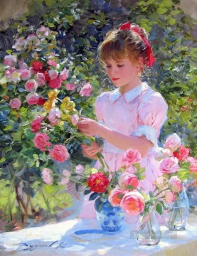 Beautiful Girl KR 012 Impressionist Oil Paintings