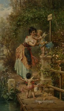 Women Painting - Bruckenzoll Hans Zatzka beautiful woman lady