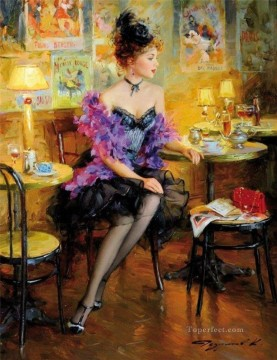 Women Painting - Pretty Lady KR 035 Impressionist