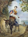 portrait of o p ferzen on a donkeyback Karl Bryullov beautiful woman lady