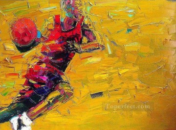 knife Art Painting - basketball 01 with palette knife