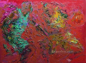basketball 02 with palette knife Oil Paintings