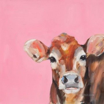 cattle bull cow Painting - cow 35 with palette knife