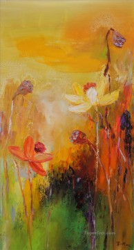By Palette Knife Painting - lotus 5 by knife