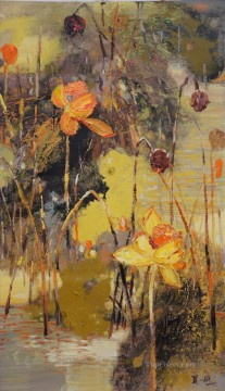 lotus 6 by knife Oil Paintings