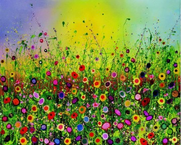 Impressionism Painting - stipple flowers by knife 2