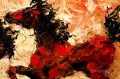 am140D11 animal horse with palette knife
