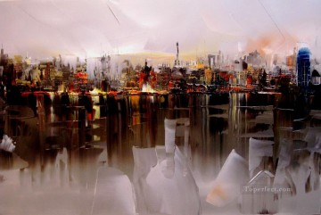KG cityscape 05 with palette knife Oil Paintings