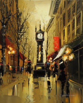 By Palette Knife Painting - KG Paris 01 with palette knife