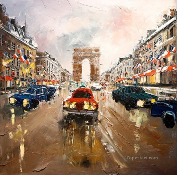 KG Paris 04 with palette knife Oil Paintings